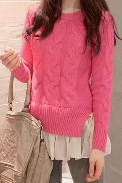 Ảnh số 55: Áo len / Size: S, M, L / Màu: Hồng, Ghi, Xanh da trời / Xuất xứ Made in Korea - Giá: 350.000