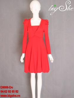 Ảnh số 2: Đầm công sở D9006 Đỏ - Giá: 900.000