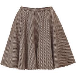 Ảnh số 8: Chân váy xòe kẻ nhuyễn vải dạ mỏng 2 lớp 2 túi hông - Giá: 250.000