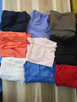 Ảnh số 25: Áo thun dài tay cao cổ, chất dày dặn, có các màu đen, trắng, đỏ, hồng phấn, tím, đỏ, cam, xanh tím than, xanh cooban, xám - 80k - Giá: 80.000