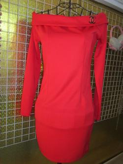 Ảnh số 23: Váy Chanel cổ ngang vai, dài tay, chất thun nỉ dày dặn, có hai màu đen và đỏ - 190k - Giá: 190.000