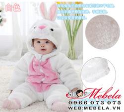 Ảnh số 72: BD528 Body 3 lớp cực dày và ấm hình thỏ trắng xinh xắn cho bé khoảng 7-14 cân - Giá: 370.000