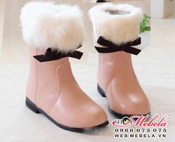 Ảnh số 85: B14 boot cao cổ lót lông cổ lông trang trí nơ cực xinh sz 21-25 - Giá: 350.000