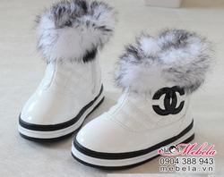 Ảnh số 77: B12 Boot lót lông cổ lông Gucci trắng cho bé sz 21-25 - Giá: 325.000