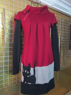 Ảnh số 61: Váy len pha nỉ, hình thêu mèo, free size - 190k - Giá: 190.000