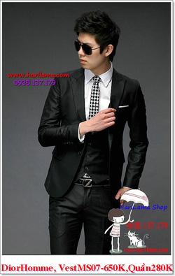 Ảnh số 9: Áo Vest Nam, Áo Vest Dior - NYQ 07, Áo Vest Hàn, Áo Vest Cưới - Giá: 650.000