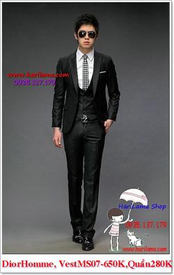 Ảnh số 11: Áo Vest Nam, Áo Vest Dior - NYQ 07, Áo Vest Hàn, Áo Vest Cưới - Giá: 650.000