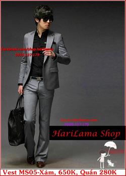 Ảnh số 24: Áo Vest Nam, Áo Vest Dior - NYQ MS05 Xám, Áo Vest Hàn, Áo Vest Cưới - Giá: 650.000