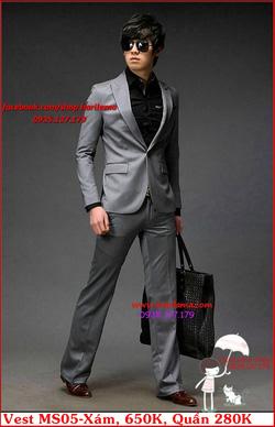 Ảnh số 29: Áo Vest Nam, Áo Vest Dior - NYQ MS05 Xám, Áo Vest Hàn, Áo Vest Cưới - Giá: 650.000