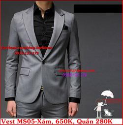 Ảnh số 30: Áo Vest Nam, Áo Vest Dior - NYQ MS05 Xám, Áo Vest Hàn, Áo Vest Cưới - Giá: 650.000