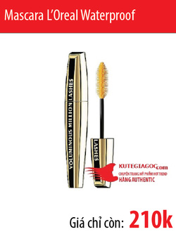 Ảnh số 42: Mascara L Oreal Voluminous Million Lashes Waterproof - Giá: 210.000