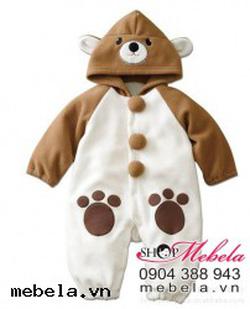 Ảnh số 8: BD504 body nhung hình gấu nâu ngộ nghĩnh cho bé 6-10-12-13 - Giá: 200.000