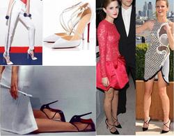Ảnh số 12: Giày cao gót Louboutin 2 dây chéo 370k - Giá: 370.000