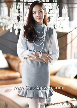 Ảnh số 6: Váy liền thân Hàn Quốc D2172 - Giá: 1.860.000