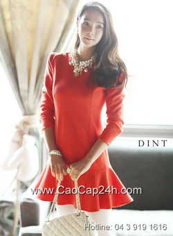 Ảnh số 5: Váy liền thân Hàn Quốc D2170 - Giá: 2.080.000