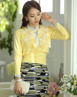 Ảnh số 1: Áo cardigan Hàn Quốc SA14KN002 - Giá: 1.610.000