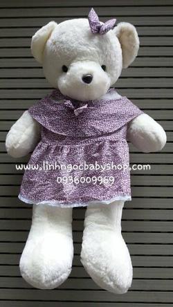 Ảnh số 2: Gấu trắng váy hoa nhí, - Giá: 430.000