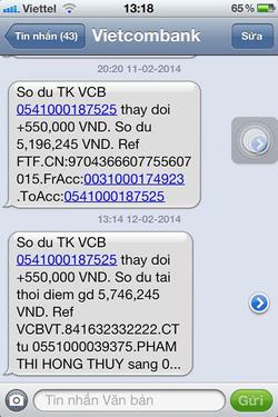 Ảnh số 24: SMS chuyển tiền của khách - Giá: 11.111