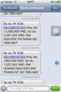 Ảnh số 26: SMS chuyển tiền của khách - Giá: 11.111