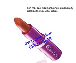 Ảnh số 65: Son Simplypretty Colorbliss lipstick 4g. Màu Cool Coral - Giá: 35.000