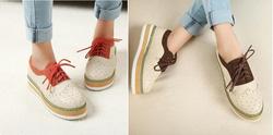 ?nh s? 8: Giày bata bánh mì phối màu viền hoa- 260k - Giá: 260.000