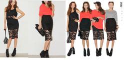 Ảnh số 57: chân váy ren - Giá: 220.000