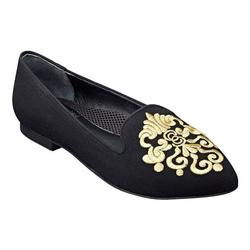 Ảnh số 4: Easy Spirit size 6.5  Giày đế thấp da lộn màu đen  Thêu họa tiết sang trọng - Giá: 1.600.000