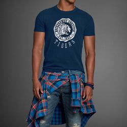 Ảnh số 28: Áo thun cổ tròn abercrombie fitch AF nam giới thời trang châu Âu thể thao - Giá: 220.000