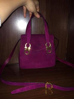 Ảnh số 27: MS TG26: Túi SF da lộn màu tím, có dây đeo chéo Sale đồng giá 6 triệu - Giá: 1.000