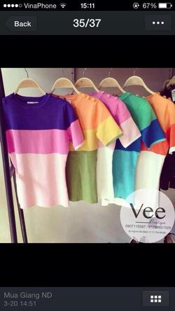 Ảnh số 91: áo pull 2 cúc vai 3 màu - Giá: 250.000