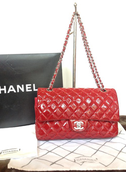 Ảnh số 38: MS TG3 : Túi Chanel đỏ bóng, sz M, xích và khóa màu trắng nhé các ss. - Giá: 1.000