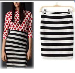 Ảnh số 32: Chân váy kẻ ngang Zara TQXK - Giá: 280.000