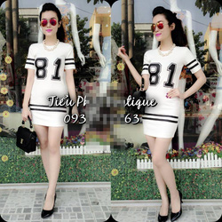 Ảnh số 3: váy cộc tay ôm hình 81 có 2 màu đen ,trắng .giá:280k - Giá: 280.000