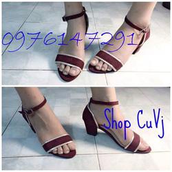Ảnh số 13: Sandal gót vuông Zara 1 bản viền bạc đi lên cực sáng chân - Giá: 99.000