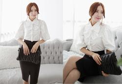 Ảnh số 72: SM936: White, Light Pink/ F - Áo sơ mi công sở Hàn Quốc - Giá: 1.560.000