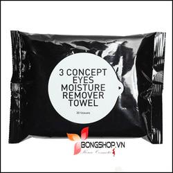 Ảnh số 10: Khăn ướt tẩy trang Moisture Remove Towel - 3 Concept Eyes - Giá: 150.000