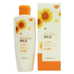 Ảnh số 21: Kem chống nắng toàn thân Natural Sun body & family mild the face shop 2014 - Giá: 300.000