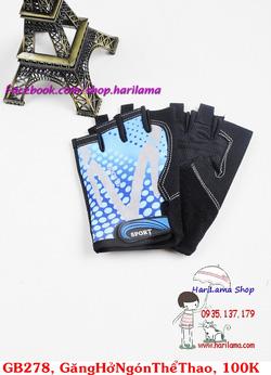 ?nh s? 1: Găng tay nam hở ngón, găng tay thể thao nam, găng tay tập thể hình, găng tay chống nắng cho nam - Giá: 100.000