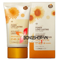 Ảnh số 20: Kem chống nắng Power Long Lasting Sun Cream SPF45 PA+++ - The Face Shop 2014 - Giá: 320.000