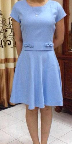 ?nh s? 26: 200k - Váy xòe nơ eo  xanh ngọc size SM - Giá: 200.000