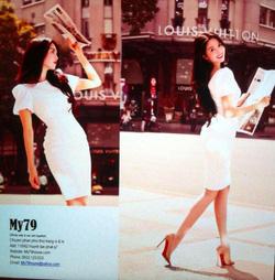 Ảnh số 26: Váy trắng tay bồng - Giá: 450.000