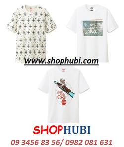 Ảnh số 30: Áo phông cotton cổ tròn UT Uniqlo Nhật - Giá: 450.000