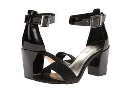 Ảnh số 19: Calvin klein đủ size từ size 5 đến size 8  Sandals màu đen da thường pha da rắn  Quai cài cổ chân nữ tính , có thể thay móc  Cao 6cm - Giá: 1.900.000