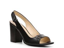 ?nh s? 22: Calvin klein size 6.5  Sandals màu đen da thật, quai giày và guai ngang có móc thời trang  Gót to , cao 8cm - Giá: 2.000.000