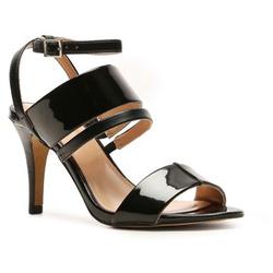 ?nh s? 24: BCBGeneration size 6.5  Sandals màu đen , quang ngang, quai cài cổ chân  Cao 9cm - Giá: 2.000.000