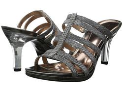 ?nh s? 35: Mootsies Tootsies size 6  Sandals màu ghi đậm , quai ngang ôm chân  Đính đá dọc quai nữ tính , thời trang  Gót trong lạ mắt, cao 8.5cm - Giá: 1.100.000