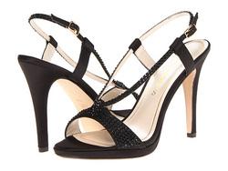 ?nh s? 37: Caparros size 5.5, 7  Sandals màu đen, quai đơn giản, có chun co giãn sau gót  Cao 9cm, đi rất êm chân, không bị dốc ah - Giá: 2.100.000