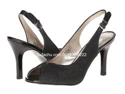 Ảnh số 49: Mootsies Tootsies size 6, 6.5 , 7.5  Sandals màu đen viền da, quai lượn ôm chân  Cao 9cm , đi cực nhẹ và êm - Giá: 1.300.000