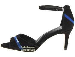 ?nh s? 62: Calvin klein size 6.5, 7.5, 8  Sandals màu đen pha xanh , quai ngang  Cổ chân có quai cài ôm cổ  Cao 7cm - Giá: 2.100.000