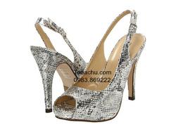 ?nh s? 78: Call it SPRING size 7  Sandals da rắn màu bạc , quai khóa chun sau gót ôm chân  Cao trước sau , cao 10 cm - Giá: 1.300.000